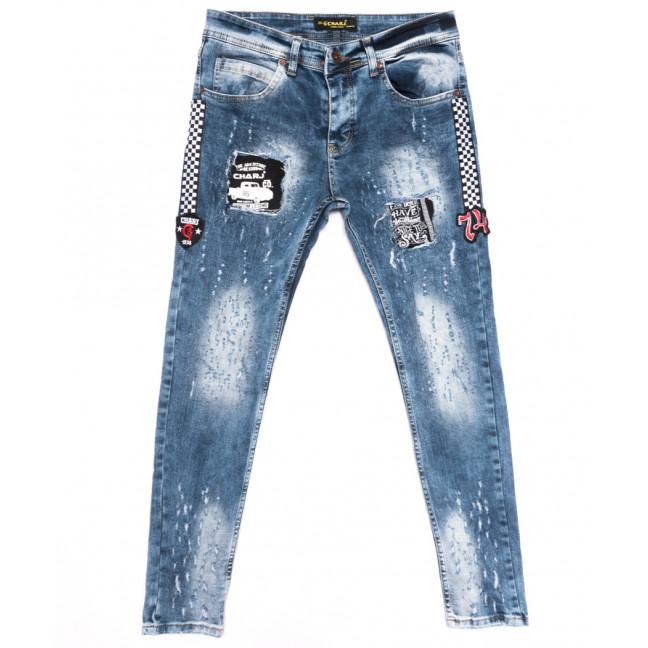 6357 Charj джинсы мужские с рванкой синие весенние стрейчевые (29-36, 8 ед.) Charj: артикул 1107770
