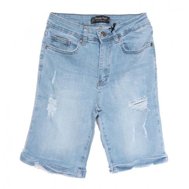 0677 Happy Pink шорты джинсовые женские c рванкой синие стрейчевые (26-30, 7 ед.) Happy Pink: артикул 1108472