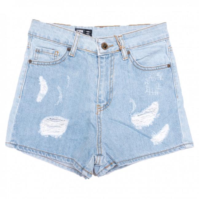 0728 Rich Play шорты джинсовые женские с рванкой синие коттоновые (26-32, 7 ед.) Rich Play: артикул 1108463