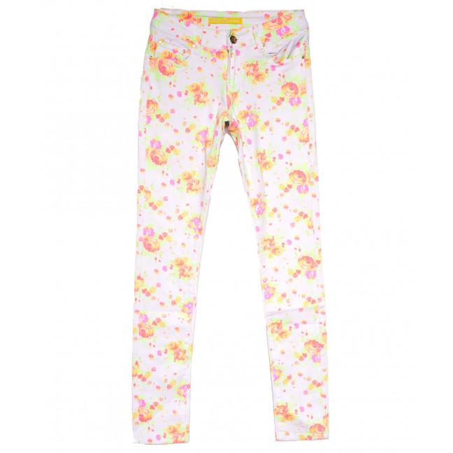 0016 Regular джинсы женские с принтом белые весенние стрейчевые (34-40,евро, 5 ед.) Regular: артикул 1107922