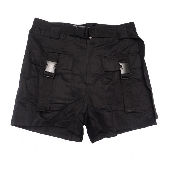 8386 черные Saint Wish шорты женские стрейчевые (S-2XL, 5 ед.) Saint Wish: артикул 1108189