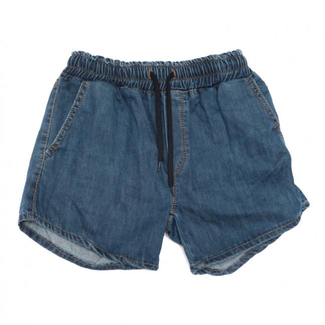 0361 Defile шорты джинсовые женские на резинке синие коттоновые (S-XL, 6 ед.) YMR: артикул 1108289