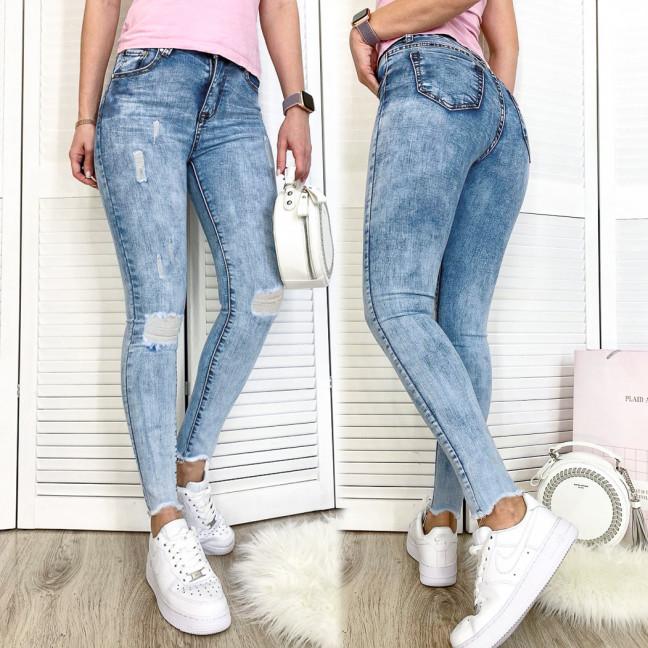 3604-01 New jeans американка голубая с царапками весенняя стрейчевая (25,25, 2 ед.) New Jeans: артикул 1110534