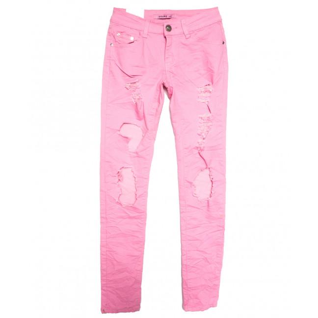 6862-4 Gourd джинсы женские с рванкой розовые весенние стрейчевые (26-30, 5 ед.) Gourd: артикул 1108315