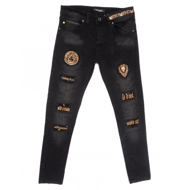 1106 Charj джинсы мужские с царапками серые весенние стрейчевые (29-36, 8 ед.) Charj: артикул 1107787