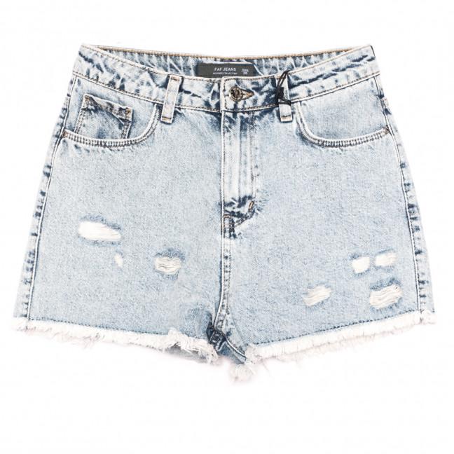 3006 Faf шорты джинсовые женские с рванкой синие коттоновые (25-30, 6 ед.) Faf: артикул 1108298