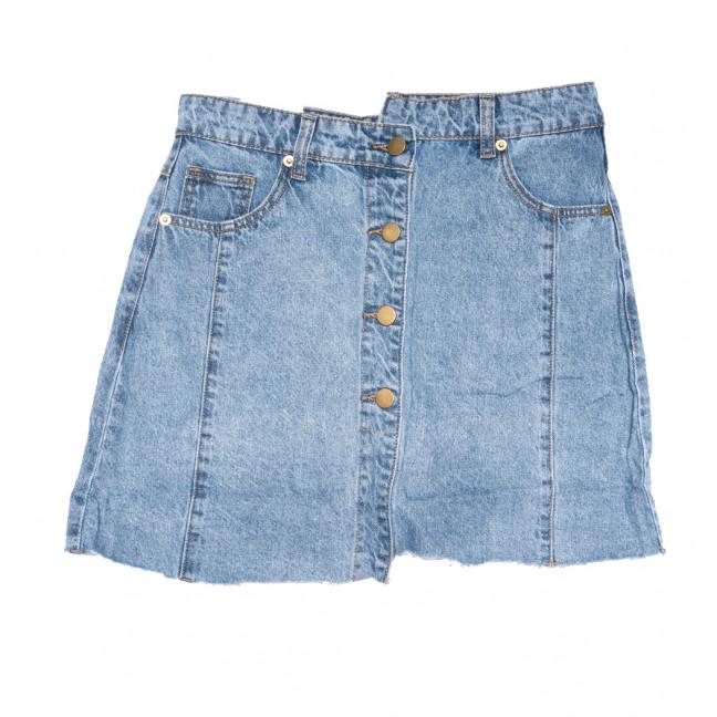 9113 Saint Wish юбка джинсовая на пуговицах синяя коттоновая (25-30, 6 ед.) Saint Wish: артикул 1108107