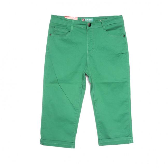 9508 Sunbird шорты джинсовые женские батальные зеленые стрейчевые (31-38, 6 ед.) Sunbird: артикул 1107919