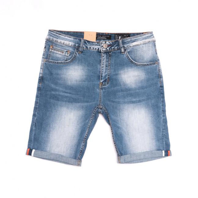 2253 Fang шорты джинсовые мужские полубатальные синие стрейчевые (32-42, 8 ед.) Fang: артикул 1107643