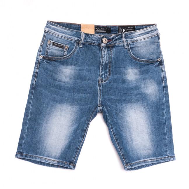 2228 Fang шорты джинсовые мужские полубатальные синие стрейчевые (32-42, 8 ед.) Fang: артикул 1107644