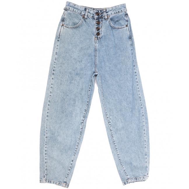 9748 Poshum джинсы-баллон синие весенние коттоновые (25-30, 6 ед.) Blue 69: артикул 1108010