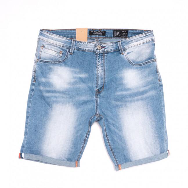 2250 Fang шорты джинсовые мужские полубатальные синие стрейчевые (32-40, 8 ед.) Fang: артикул 1107646