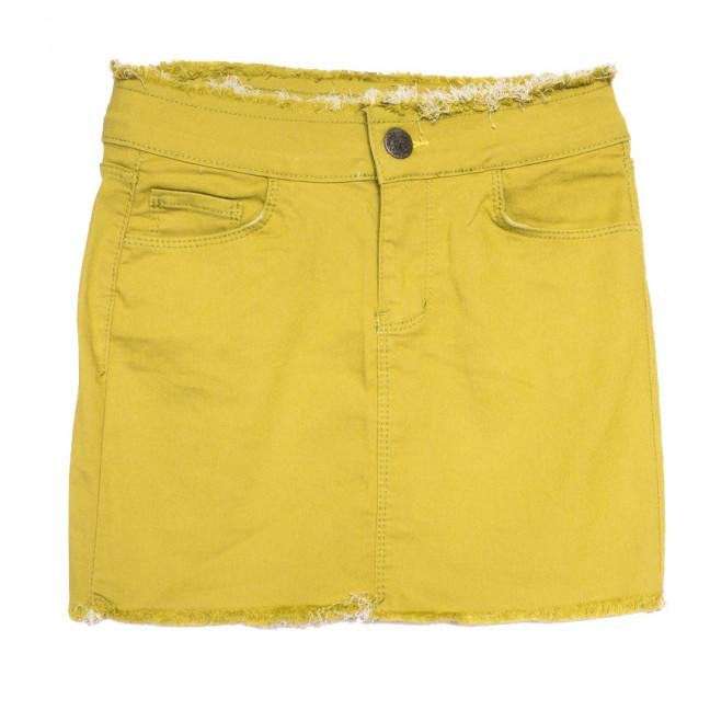 1136 желтая Woodstar юбка джинсовая стрейчевая (S-XL, 6 ед.) WoodStar: артикул 1108477