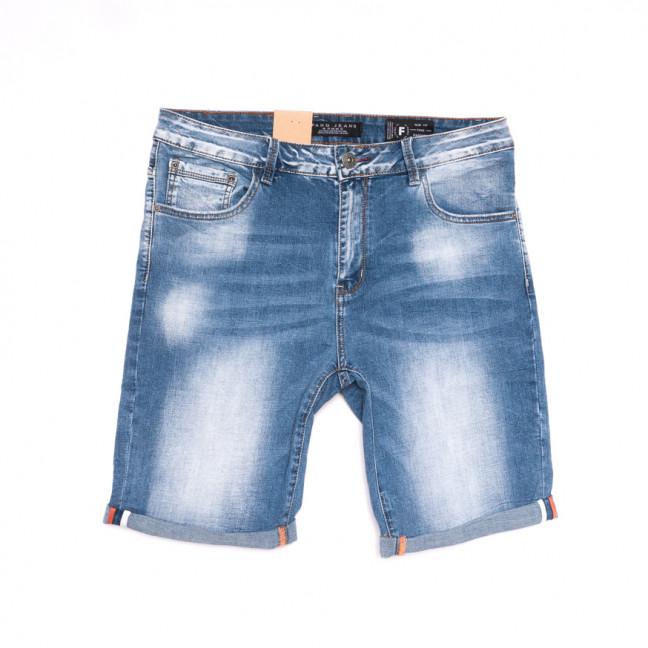 2252 Fang шорты джинсовые мужские полубатальные синие стрейчевые (32-42, 8 ед.) Fang: артикул 1107645