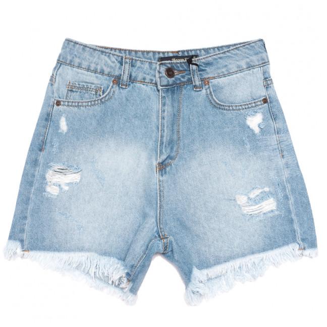 0789 Happy Pink шорты джинсовые женские с рванкой синие коттоновые (26-31, 8 ед.) Happy Pink: артикул 1108309