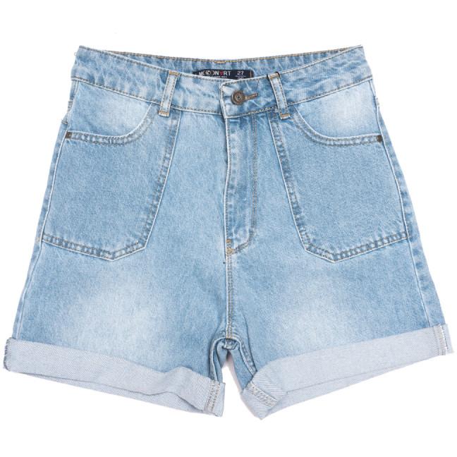 0317-2 MoonArt шорты джинсовые женские синие коттоновые (26-31, 6 ед.) MoonArt: артикул 1108464