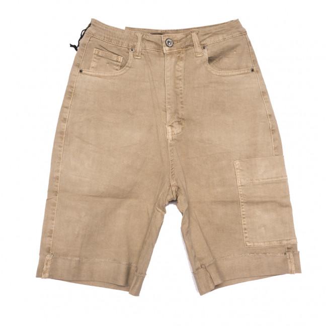 9115-7 бежевые Saint Wish шорты джинсовые женские стрейчевые (25-30, 6 ед.) Saint Wish: артикул 1108118