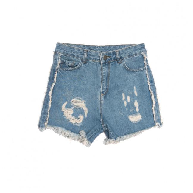 0140 Defile шорты джинсовые женские с рванкой синие коттоновые (34-40, 6 ед.) Defile: артикул 1107735