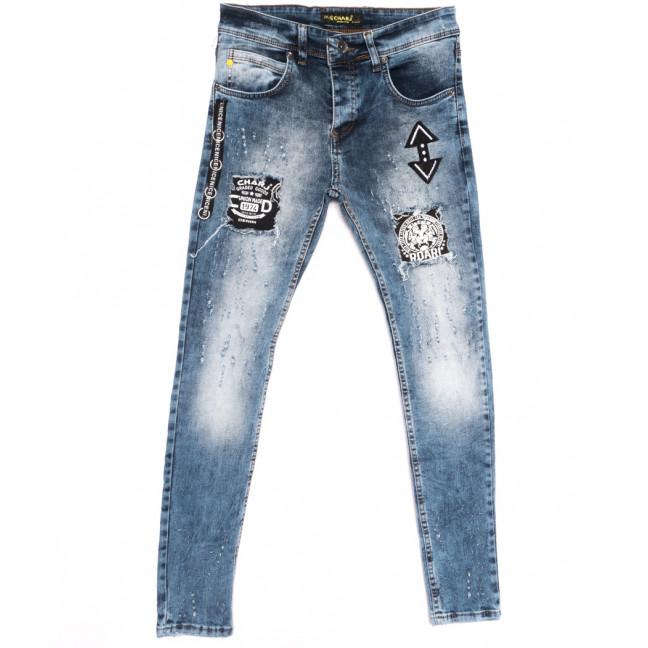 1117 Charj джинсы мужские с рванкой синие весенние стрейчевые (29-36, 8 ед.) Charj: артикул 1107789