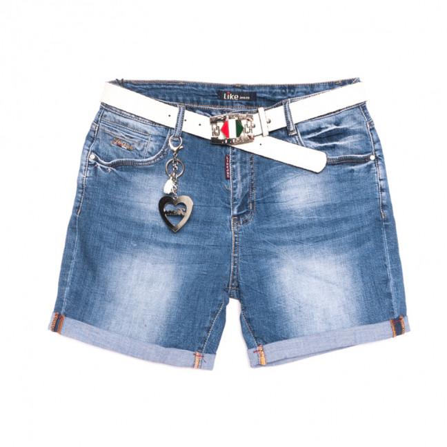 6219 Like шорты джинсовые женские полубатальные синие стрейчевые (28-33, 6 ед.) Like: артикул 1107664