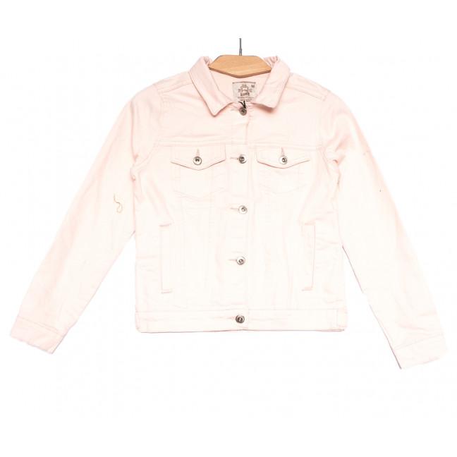 0134-3 Joons куртка джинсовая женская розовая весенняя стрейчевая (S-XL, 4 ед.) Joons: артикул 1107594