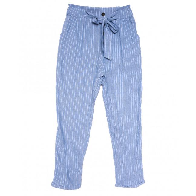 2379 синие Saint Wish брюки женские в полоску летние коттоновые (S-2XL, 5 ед.) Saint Wish: артикул 1108158