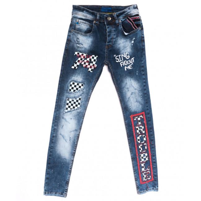 6009 Xway джинсы мужские с рванкой синие весенние стрейчевые (29-36, 8 ед.) Xway: артикул 1107795