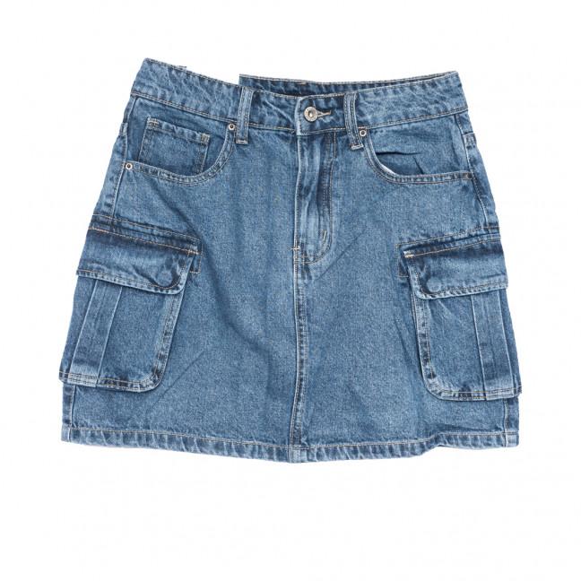 9076 Saint Wish юбка джинсовая синяя коттоновая (25-30, 6 ед.) Saint Wish: артикул 1108106