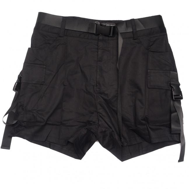 8379 черные Saint Wish шорты женские стрейчевые (S-2XL, 5 ед.) Saint Wish: артикул 1108179