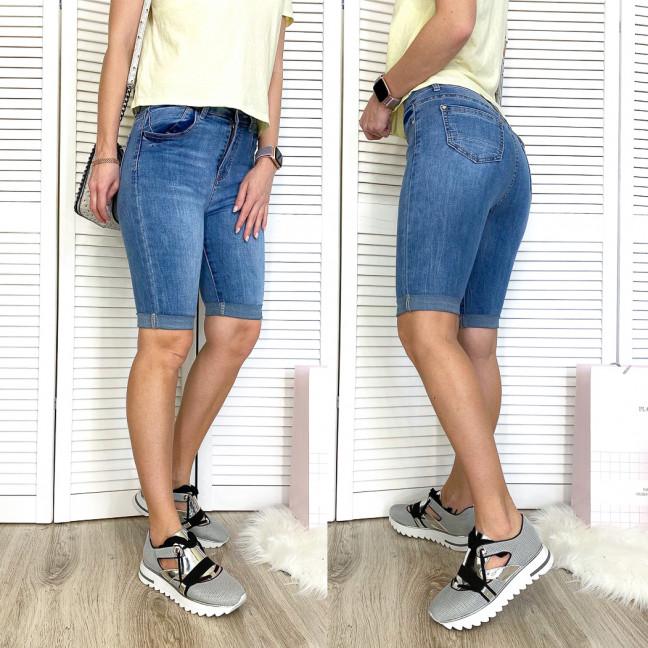 3748 New Jeans шорты джинсовые женские с царапками синие стрейчевые (25-30, 6 ед.) New Jeans: артикул 1107046