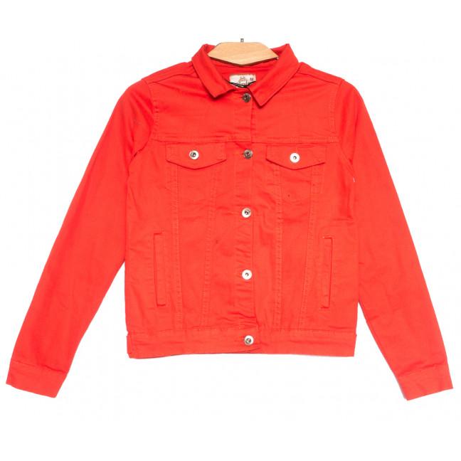 0134-2 Joons куртка джинсовая женская красная весенняя стрейчевая (S-XL, 4 ед.) Joons: артикул 1107631