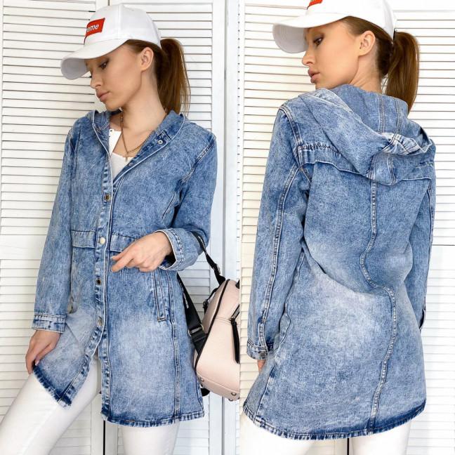 0815 New Jeans куртка джинсовая женская синяя весенняя коттоновая (XS-XXL, 6 ед.) New Jeans: артикул 1105133