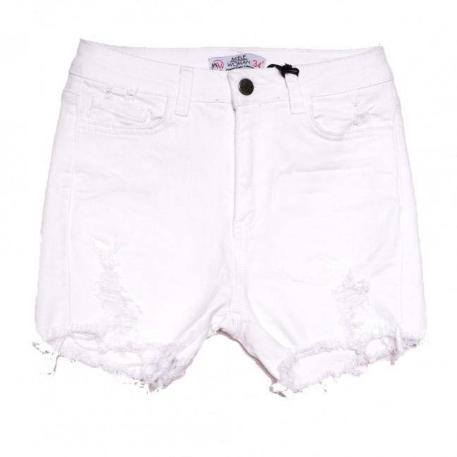 2005 Miele шорты джинсовые женские с рванкой белые стрейчевые (34-40,евро, 5 ед.) Miele: артикул 1108482