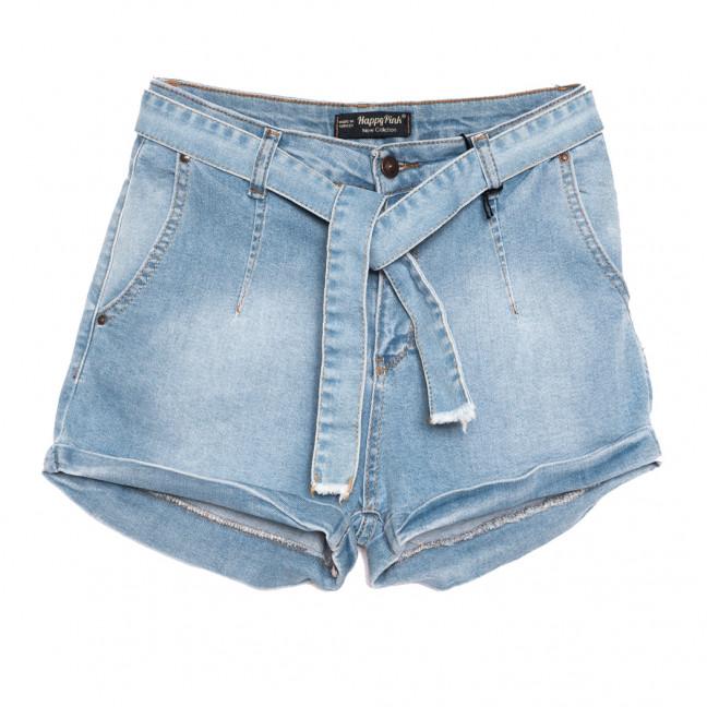 0778 Happy Pink шорты джинсовые женские синие стрейчевые (26-31, 8 ед.) Happy Pink: артикул 1108300