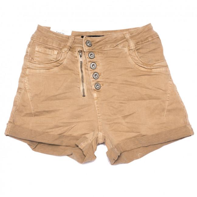 9156-7 темно-бежевые Saint Wish шорты джинсовые женские стрейчевые (25-30, 6 ед.) Saint Wish: артикул 1108170