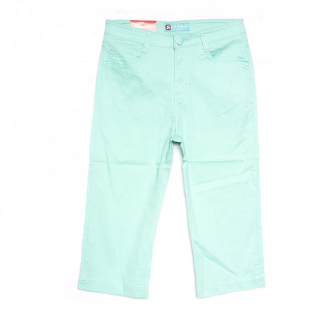 9922 ментоловые Sunbird шорты джинсовые женские батальные стрейчевые (31-38, 6 ед.) Sunbird: артикул 1107909