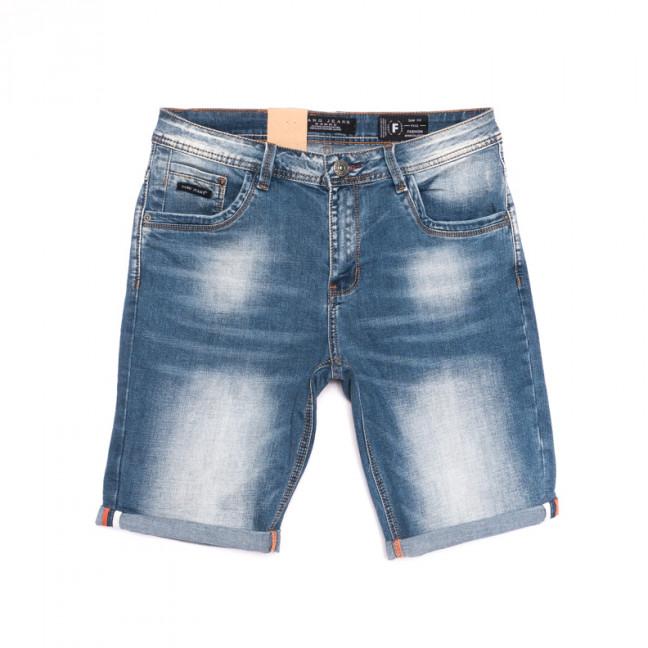 2251 Fang шорты джинсовые мужские полубатальные синие стрейчевые (32-40, 8 ед.) Fang: артикул 1107640