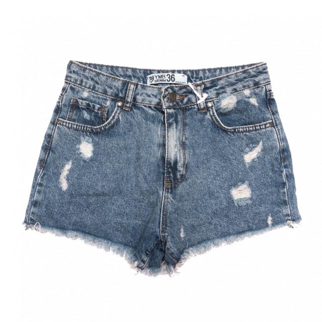 3353 YMR шорты джинсовые женские с рванкой синие коттоновые (34-42,евро, 7 ед.) YMR: артикул 1108287