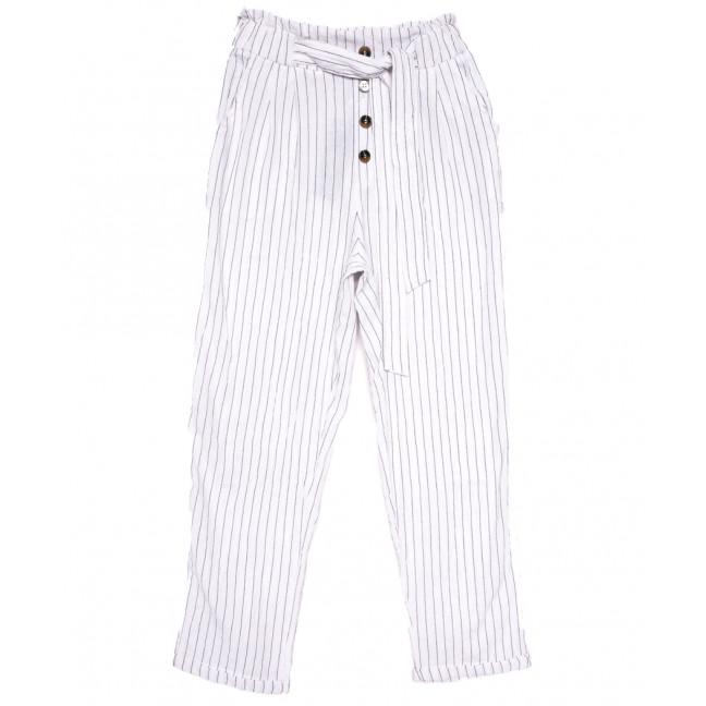 2379 белые Saint Wish брюки женские в полоску летние коттоновые (S-2XL, 5 ед.) Saint Wish: артикул 1108160