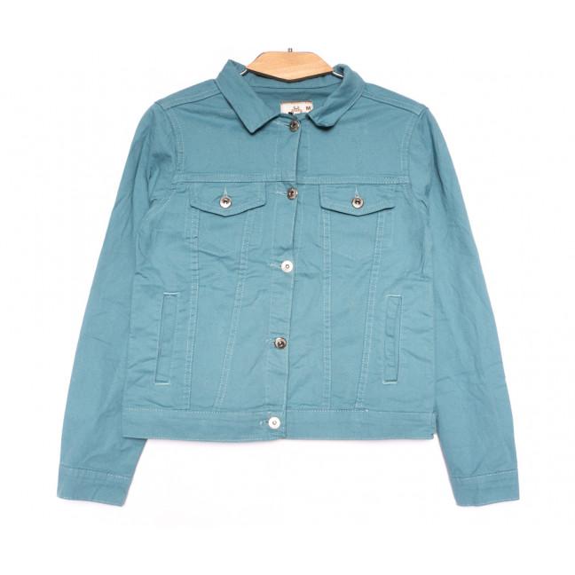 0134-4 Joons куртка джинсовая женская голубая весенняя стрейчевая (S-XL, 4 ед.) Joons: артикул 1107626
