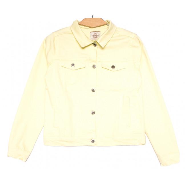 0134-1 Joons куртка джинсовая женская желтая весенняя стрейчевая (S-XL, 4 ед.) Joons: артикул 1107630