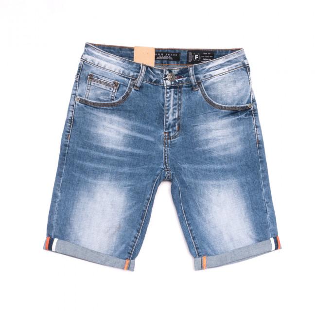 2236 Fang шорты джинсовые мужские молодежные синие стрейчевые (28-34, 8 ед.) Fang: артикул 1107648