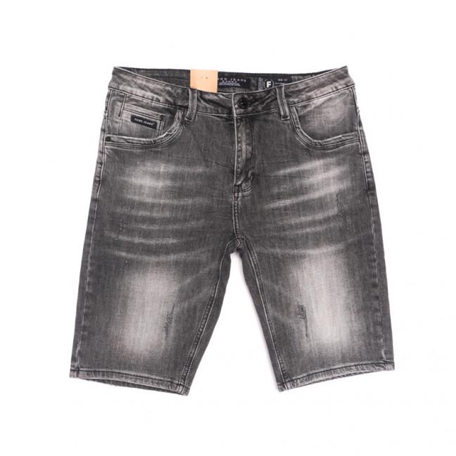 2263 Fang шорты джинсовые мужские полубатальные серые стрейчевые (32-42, 8 ед.) Fang: артикул 1107649