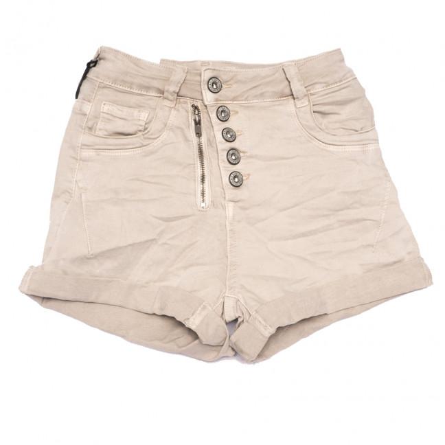 9156-14 бежевые Saint Wish шорты джинсовые женские стрейчевые (25-30, 6 ед.) Saint Wish: артикул 1108172