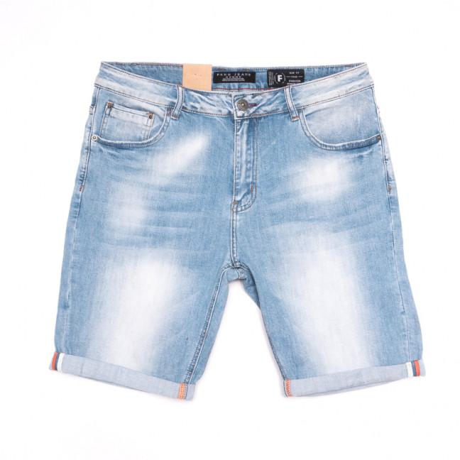 2233 Fang шорты джинсовые мужские синие стрейчевые (30-38, 8 ед.) Fang: артикул 1107641