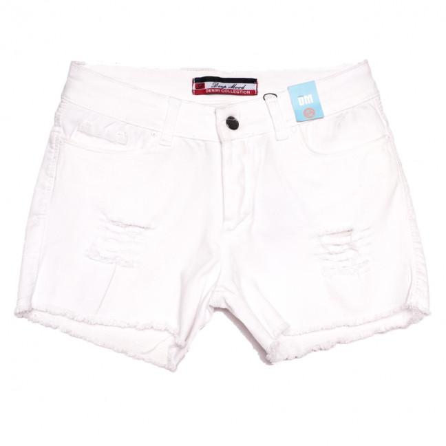 1115 Deep Mood шорты джинсовые женские полубатальные с рванкой белые стрейчевые (28-32, 5 ед.) Deep Mood: артикул 1108491