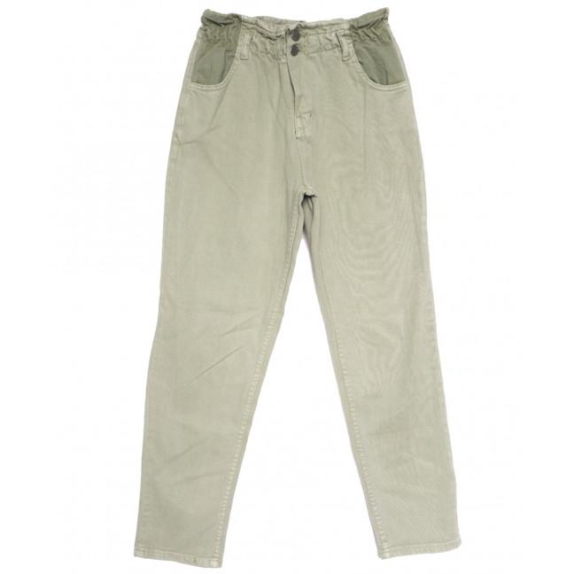 0760 джинсы женские на резинке хаки весенние коттоновые (34-40, 5 ед.) Джинсы: артикул 1107617