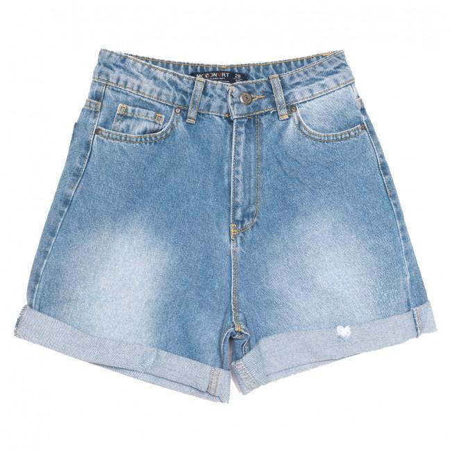 0306 Moonart шорты джинсовые женские синие коттоновые (26-31, 6 ед.) MoonArt: артикул 1108283