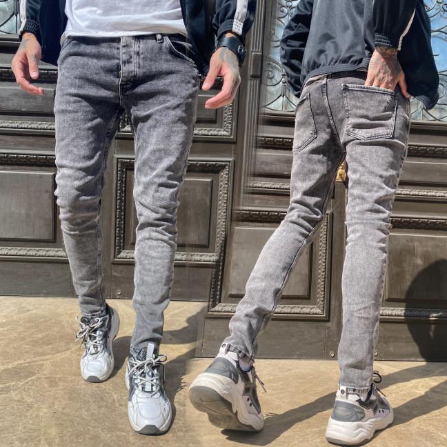 0509 Jeckerson джинсы мужские с царапками серые весенние стрейчевые (29-36, 8 ед.) Jeckerson: артикул 1107523