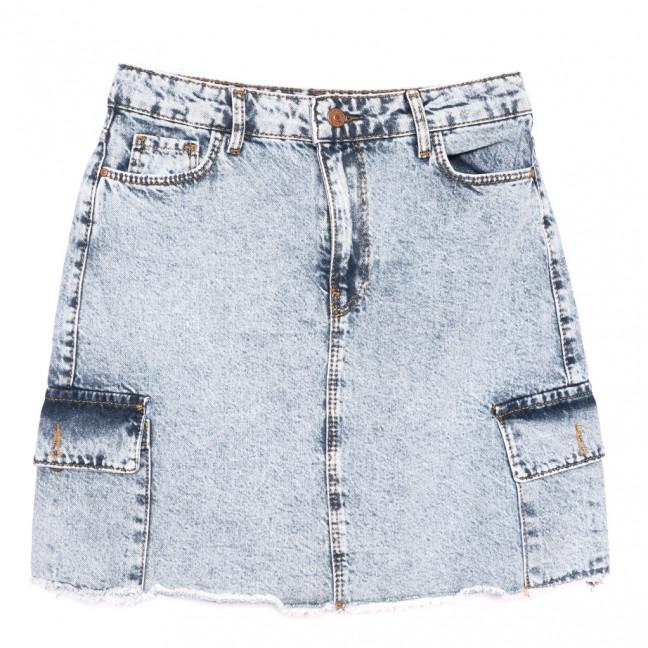 6006-1 Real Focus юбка джинсовая с карманами синяя коттоновая (26-31, 6 ед.) Real Focus: артикул 1108308